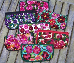 Recycled hand-woven fabric sunglass cases