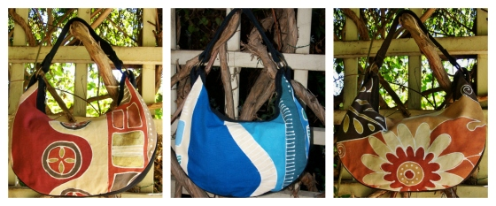 Crescent bags collage