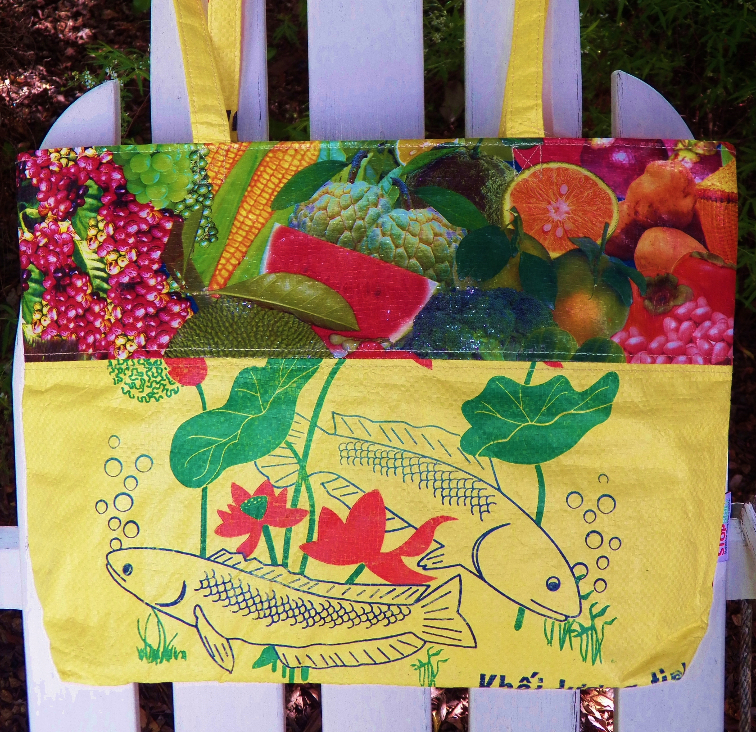 Recycled rice bag purse - Fair Trade Trafficking Tote