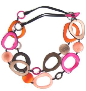 tagua necklace, fair trade jewelry