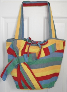 Hand woven fair trade bag made by Mayan artisans.