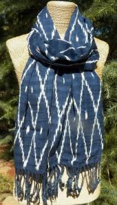 San Pedro Ikat Scarf, Mayan Weaving, ikat scarf, fair trade scarf