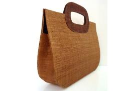 fair trade handbag made from palm fiber