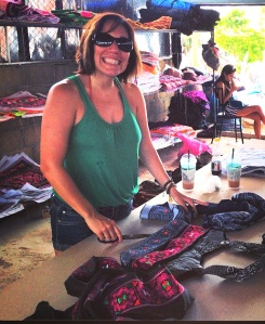 Fair trade handbag workshop in Thailand, Giovanna Mantilla