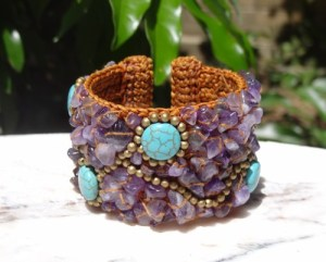 fair trade jewelry, fair trade cuff, amethyst bracelet