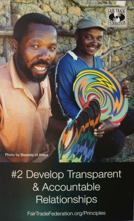 Fair trade principle #2-transparency & accountabililty
